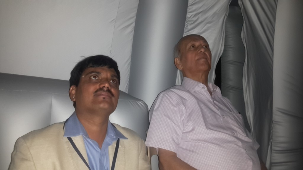"Chairman KSTA/ farmer chairman, ISRO watching the show of ""Tare Zameen Par"""