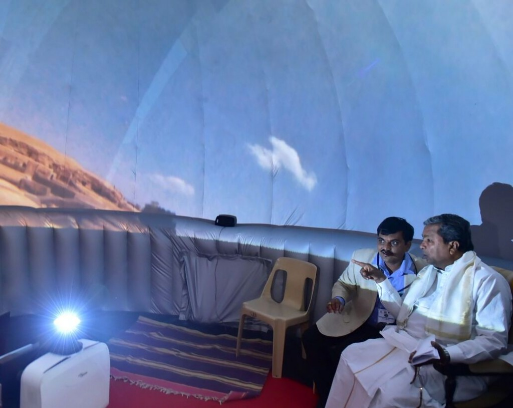 "Karnataka chief minister Shri Siddharamaiah watching the shows of ""Tare Zameen Par"""