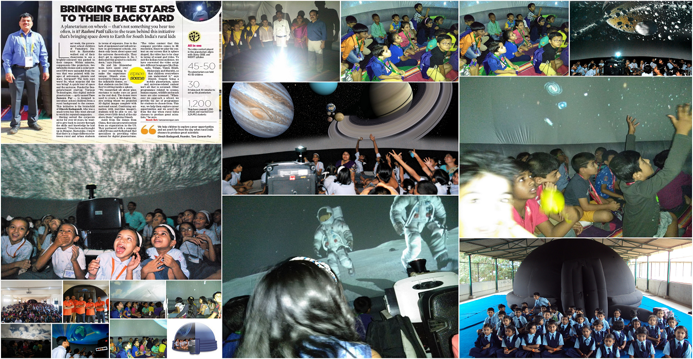 A Planetarium On Wheels! Bringing space down to earth for India's rural kids!